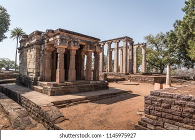Sanchi - ancient Buddhist monuments. Sanchi, Madhya Pradesh, India