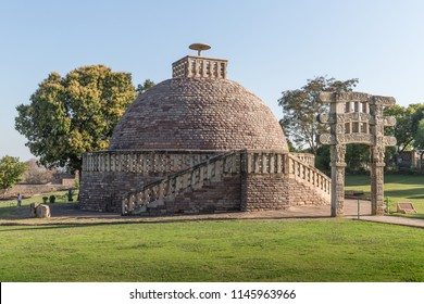 Sanchi Stupa 3 - ancient Buddhist monument. Sanchi, Madhya Pradesh, India