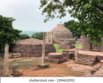 Sanchi Stupa UNESCO World Heritage is a Buddhist complex, famous for its Great Stupa, on a hilltop at Sanchi Town in Raisen District of the State of Madhya Pradesh, India