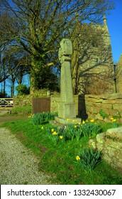 Sancreed War Memorial and Church, Sancreed Village, West Cornwall UK