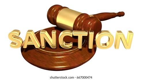 Sanction Law Concept 3D Illustration