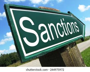 Sanctions road sign
