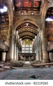 Sanctuary. Abandoned City Methodist Church in Gary, Indiana