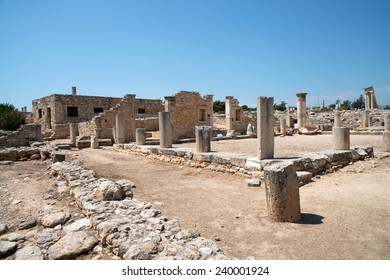 The Sanctuary of Apollo Hylates, Cyprus. The sanctuary is located about 2,5 kilometres west of the ancient town of Kourion along the road which leads to Pafos.