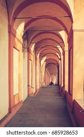 The Sanctuary of the Madonna of San Luca is a basilica church in Bologna. Northern Italy.
