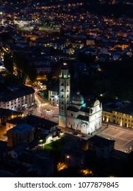 Sanctuary of the Madonna of Tirano, Valtellina, Province of Sondrio in the Italian Alps