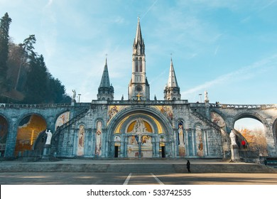 Sanctuary of Our Lady of Lourdes, France.