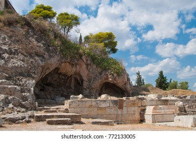 Sanctuary of Pluto (Hades), god of the Underworld, who abducted Persephone. Situated to the west of the Small Propylaia in Elefsina 328 BC