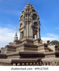 Sanctuary of Princess Norodom Kantha Bopha near Silver Pagoda in Phnom Penh, Cambodia