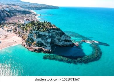 Sanctuary of Santa Maria dell'Isola symbol of the city of Tropea (Vibo Valentia, Calabria)