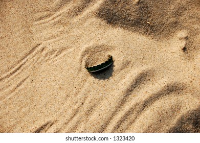 sand background with cap #8