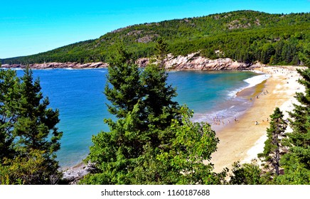 Sand Beach in Acadia National Park in Maine