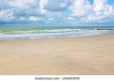 Sand beach in Blankenberge, Flanders, Belgium