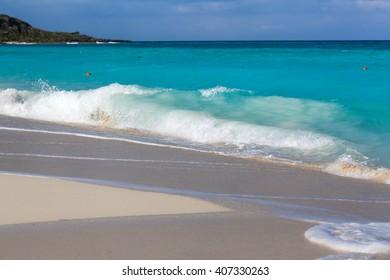 sand of beach caribbean sea, surf