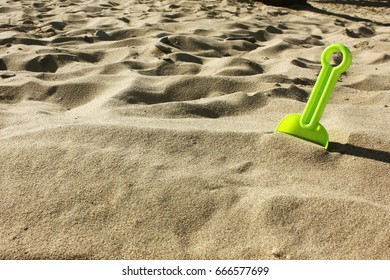 Sand, beach. Game in the sand. Sand therapy. Psychological help