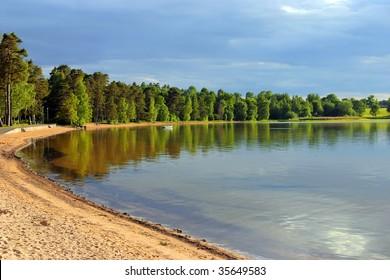 Sand beach in sweden, vattern