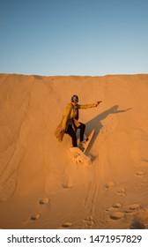 sand boarding at siwa desert