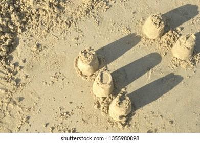 sand building on the beach
