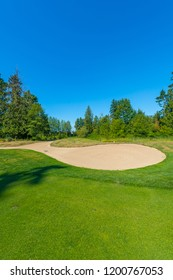Sand bunkers at the great looking golf course.