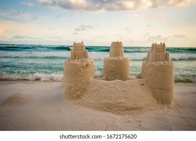 Sand Castle Building at Destin Beach Florida