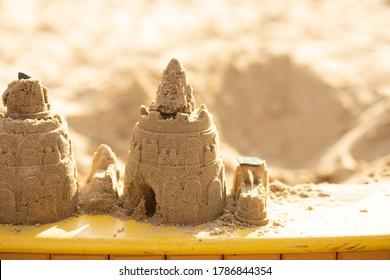 sand castle in the sandbox