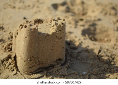 Sand Castle slightly broken
