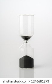 Sand clock, business concept teamwork & time management