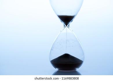 Sand clock, business time management concept
