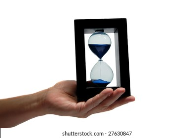 Sand clock in the hand 2