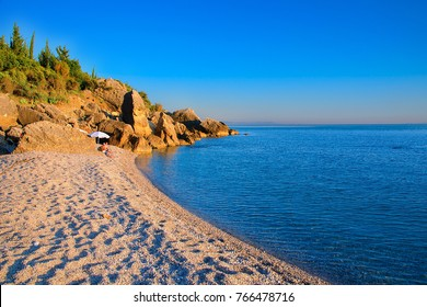 Sand coast in Himare, Albania