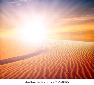 sand desert landscape,sunset