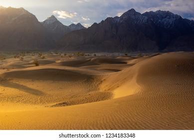 Sand desert at skardu. Northern Area Pakistan