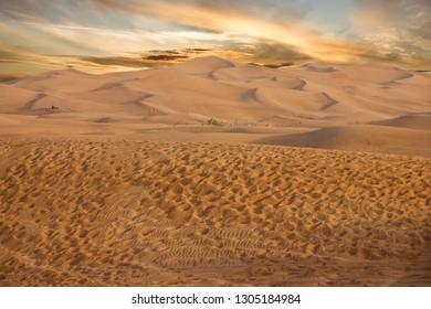 Sand desert sunset view