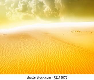 sand desert,sunrise
