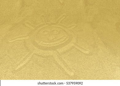 sand drawing - computer created illustration