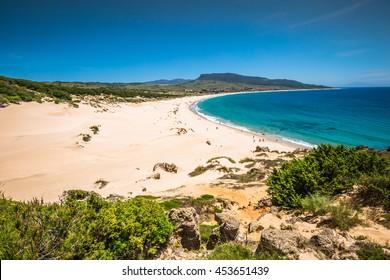Sand dune of Bolonia beach, province Cadiz, Andalucia, Spain