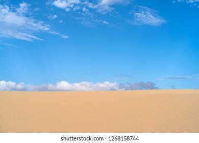 Sand dune, Corralejo Natural Park, Fuerteventura, Canary Islands, Spain