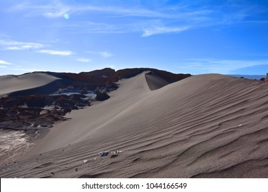 Sand dune in a desert in Chili