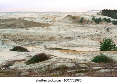 sand dune, the sand and the grass on the hilly shore of the sea