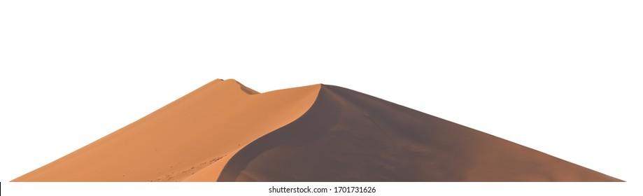 Sand dune isolated on white background