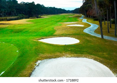 Sand dune on the golf course. More with keyword Group12A.