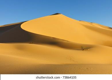 Sand Dune at Sunset in the Awbari Sand Sea, Sahara Desert, Libya