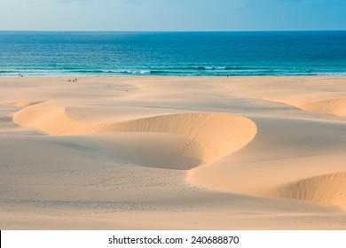 Sand dunes  in Chaves beach Praia de Chaves in Boavista Cape Verde - Cabo Verde