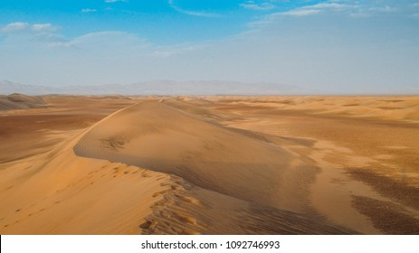 Sand dunes at Dasht-e-Lut, a large salt desert located in the provinces of Kerman, Sistan and Baluchestan, Iran.