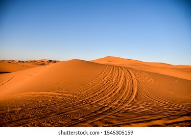 sand dunes in the desert, photo as background