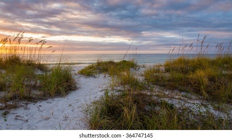 Sand Dunes At Dusk Clearwater Beach Florida