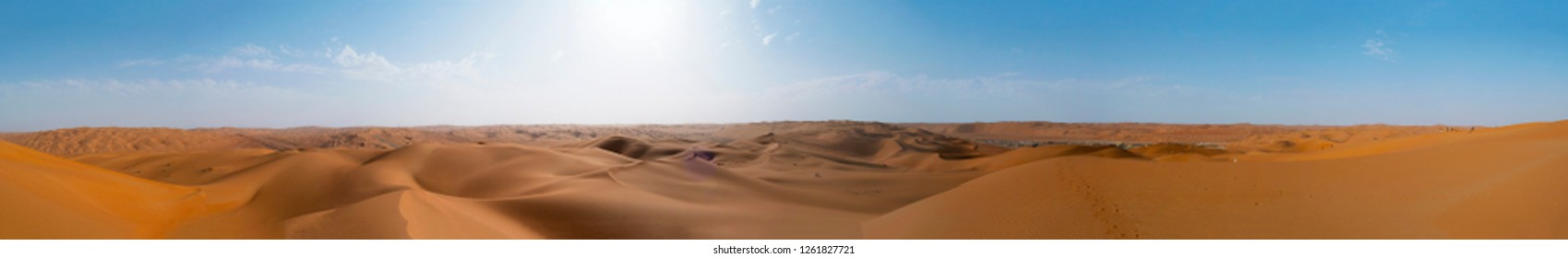 Sand dunes in the Empty Quarter (Rub' al Khali) Saudi Arabia