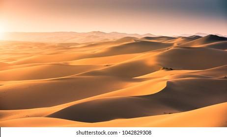 Sand dunes at gobi desert , Mongolia.
