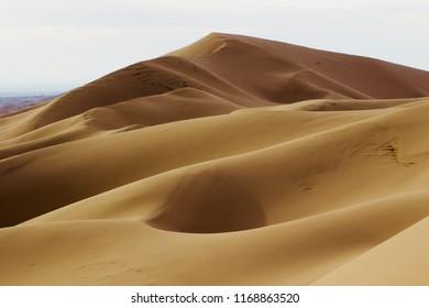 Sand dunes at Gobi desert, Mongolia