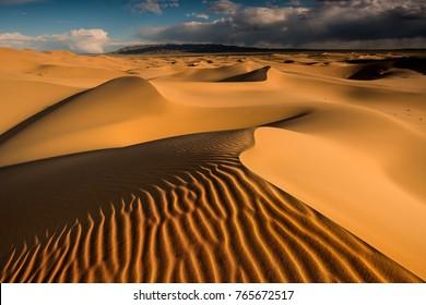 Sand dunes in Gobi desert, Mongolia, Asia
